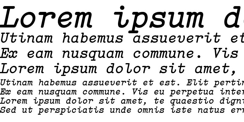 Sample of Elementa ItalicBold