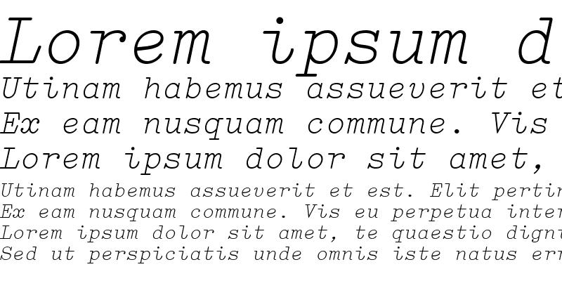 Sample of Elementa ItalicMedium