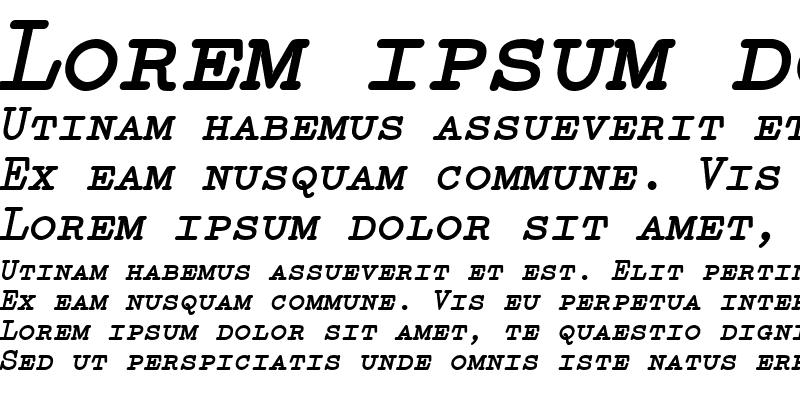 Sample of Elementa SC ItalicBold