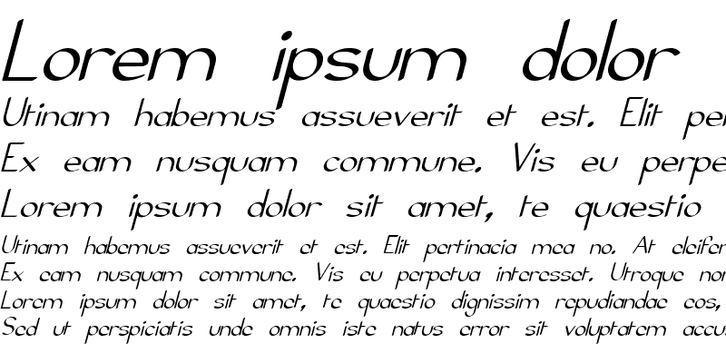 Sample of Elfar Normal Italic G98