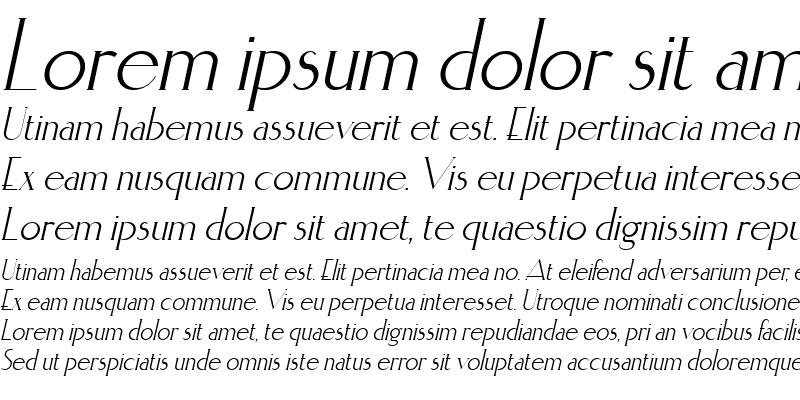 Sample of Elisia Italic