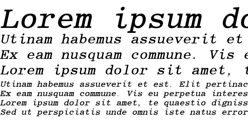 Sample of Elite Bold Italic