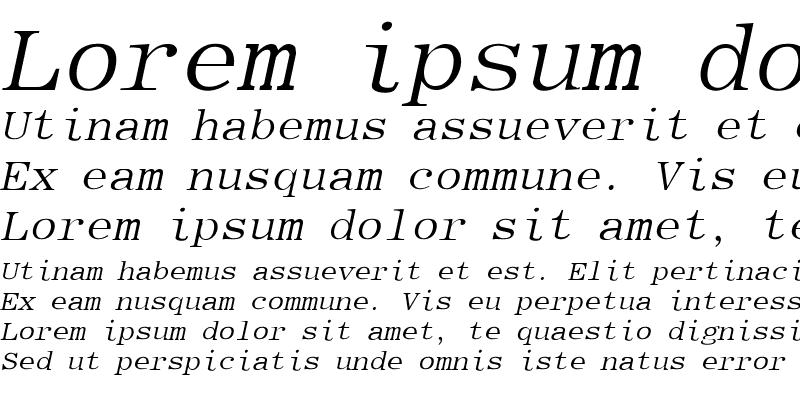 Sample of Elite-Italic Italic