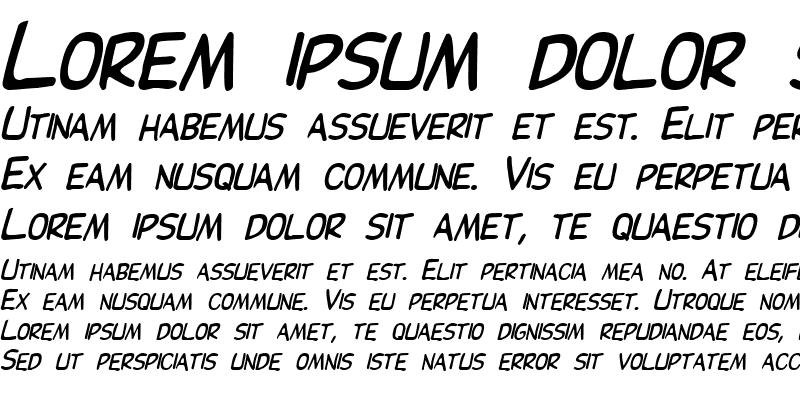 Sample of Elizabeth Bold Italic