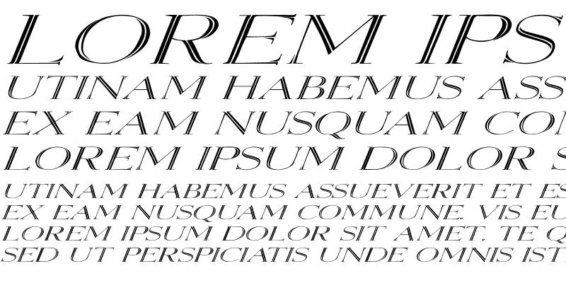 Sample of Elizabeth Ex Italic