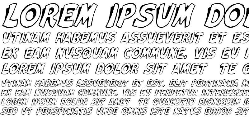 Sample of Elwood Italic