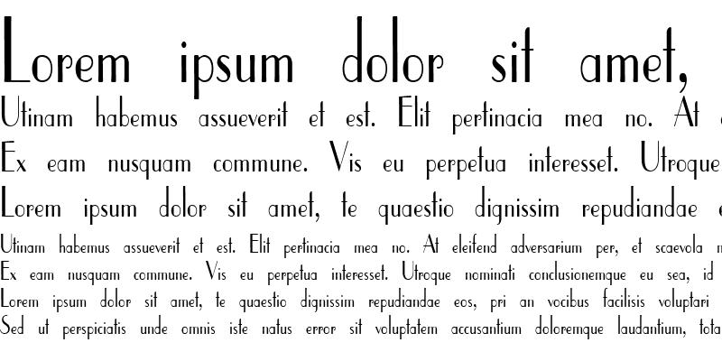 Sample of ElyseeCondensed