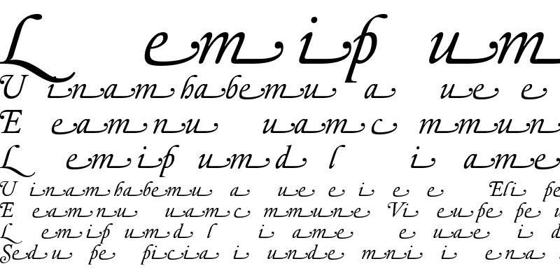 Sample of Elzevir Dtl Swash Italic Regular