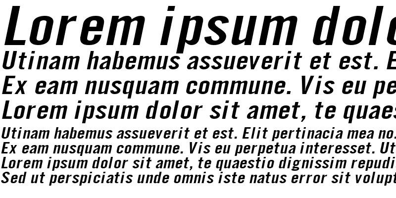 Sample of Eng Gothic Extended Italic