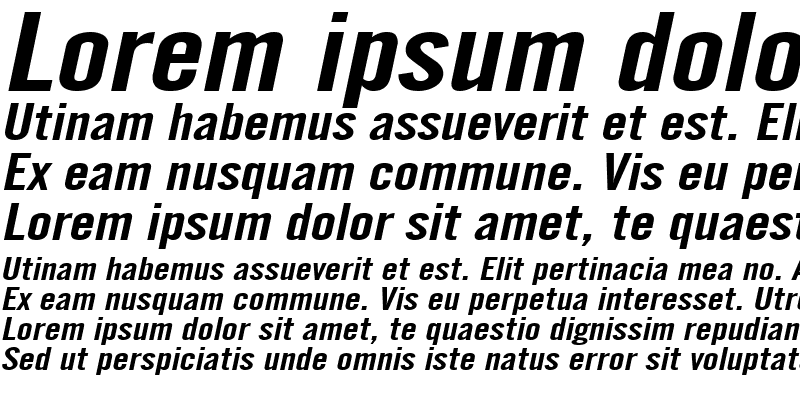 Sample of EngGothicExtended Italic