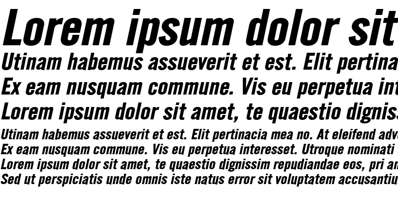 Sample of English Gothic-Extended Bold Italic
