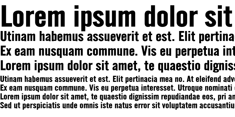Sample of English Gothic-Extended Bold