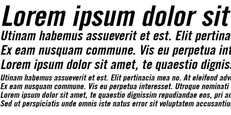 Sample of English Gothic-Extended Italic
