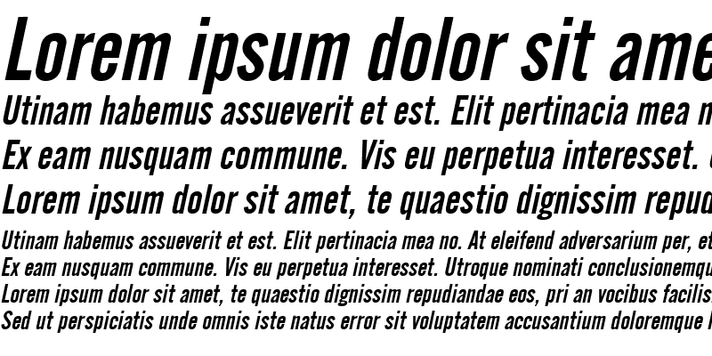 Sample of English Gothic Italic