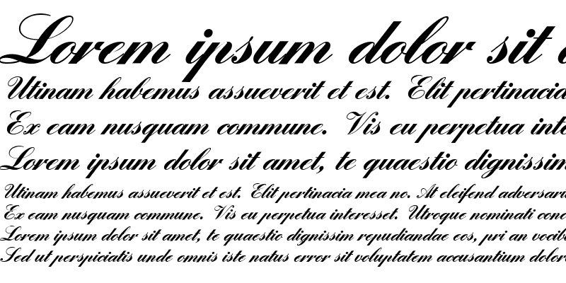 Sample of EnglishScriptEF Regular