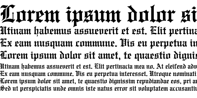 Sample of Engraved Condensed Bold