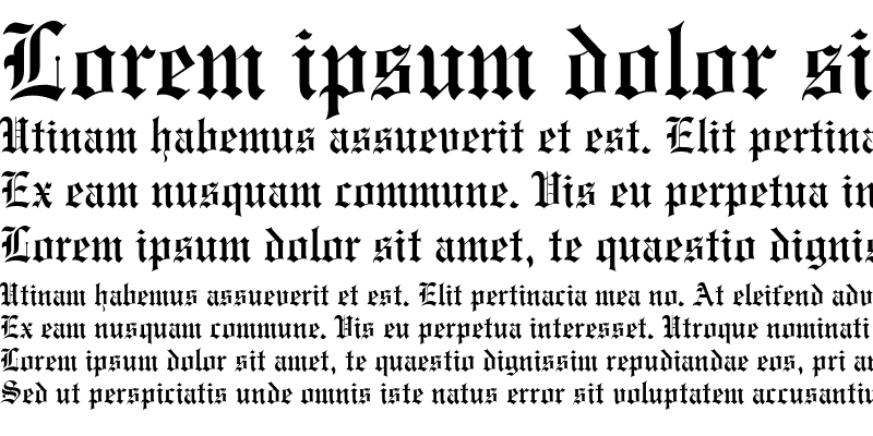 Sample of Engraved Condensed Normal
