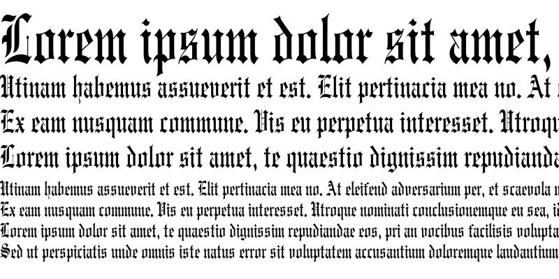 Sample of EngravedCondensed
