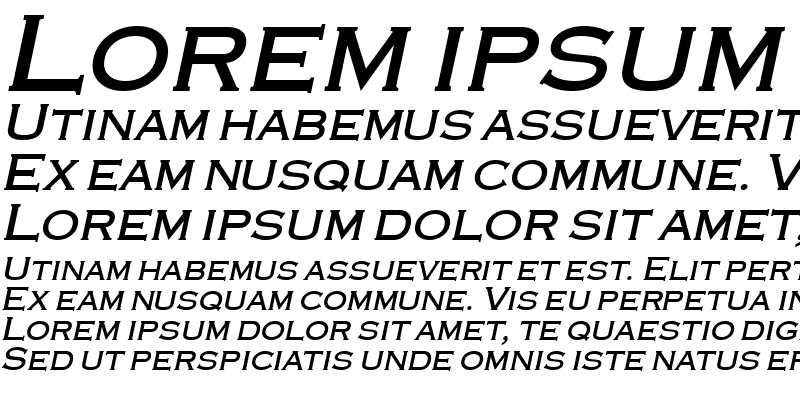Sample of Engraver Bold Italic