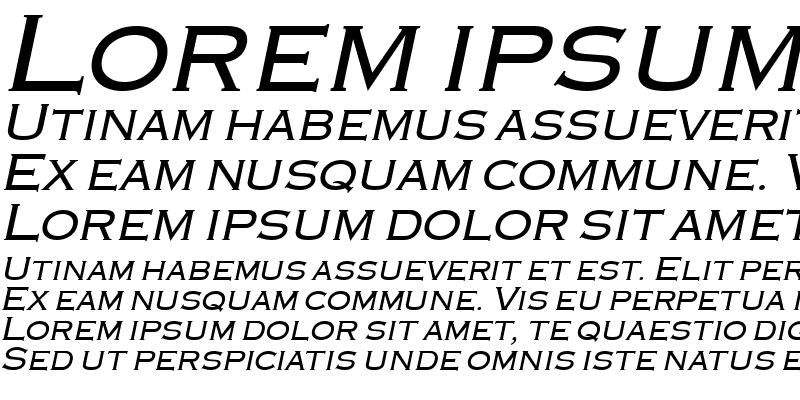 Sample of Engraver Italic