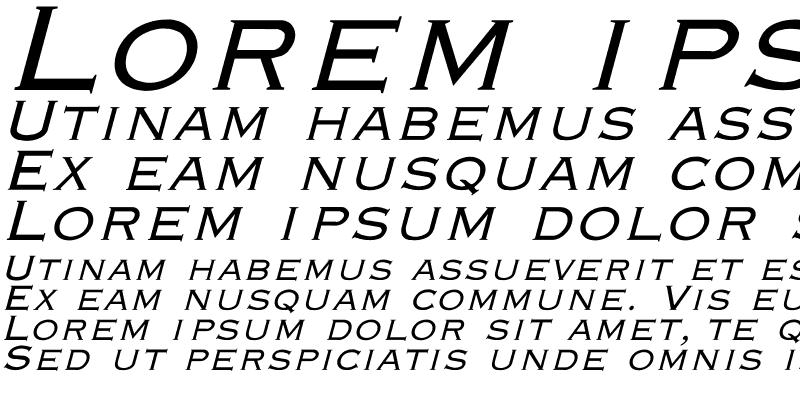 Sample of Engraver-Light Italic