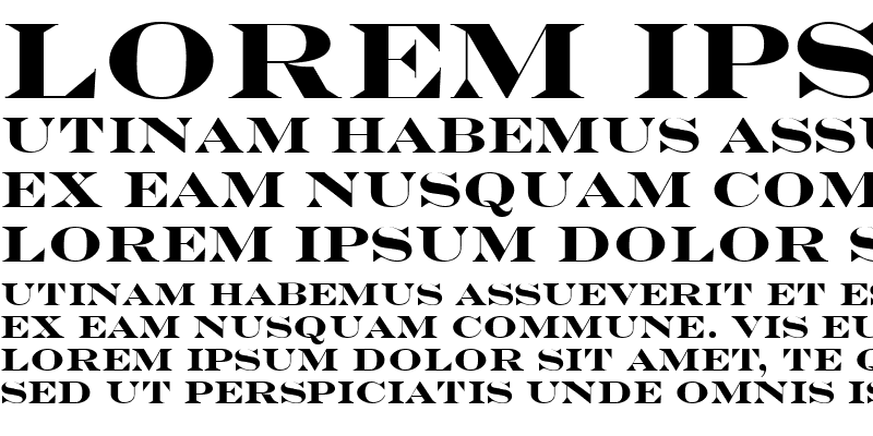 Sample of Engravers Bold