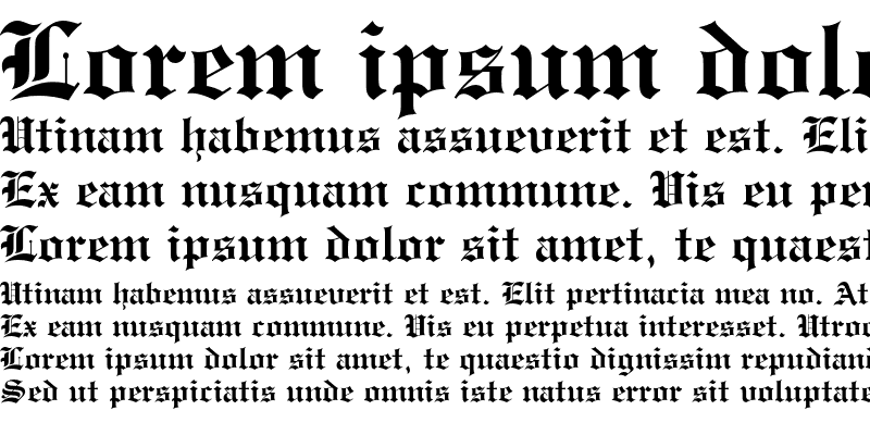Sample of Engravers' Old English Bold