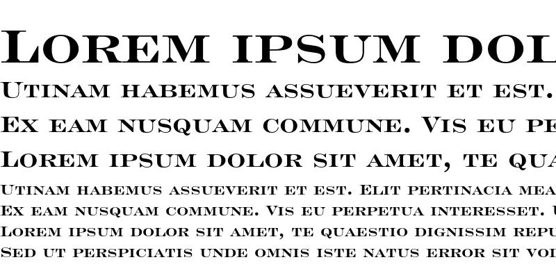 Sample of Engravers' Roman Bold