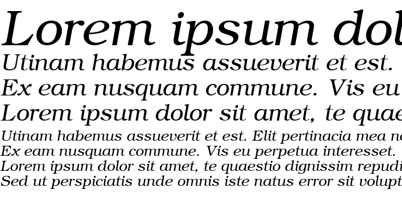Sample of ER Bukinist Mac Italic