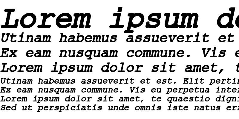 Sample of ER Kurier 1251 Bold Italic