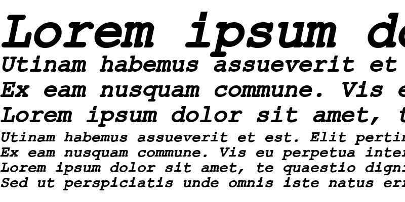 Sample of ER Kurier KOI-8 Bold Italic