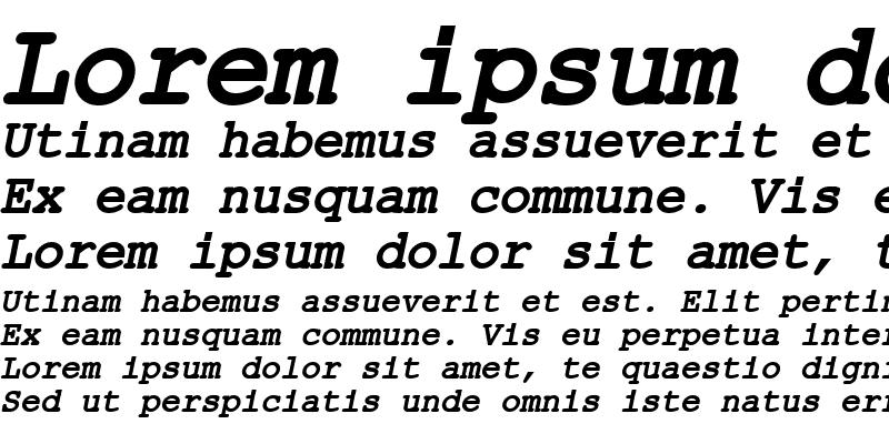 Sample of ER Kurier Mac Bold Italic