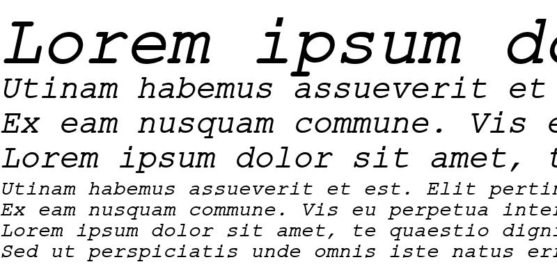 Sample of ER Kurier Mac Italic