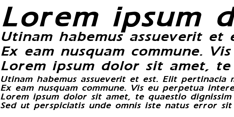 Sample of Ergoe-Mild Bold Italic