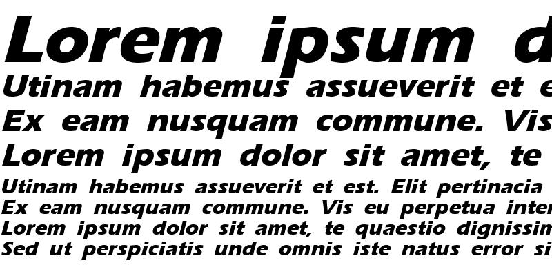 Sample of Ergoe-Mild Extrabold Italic