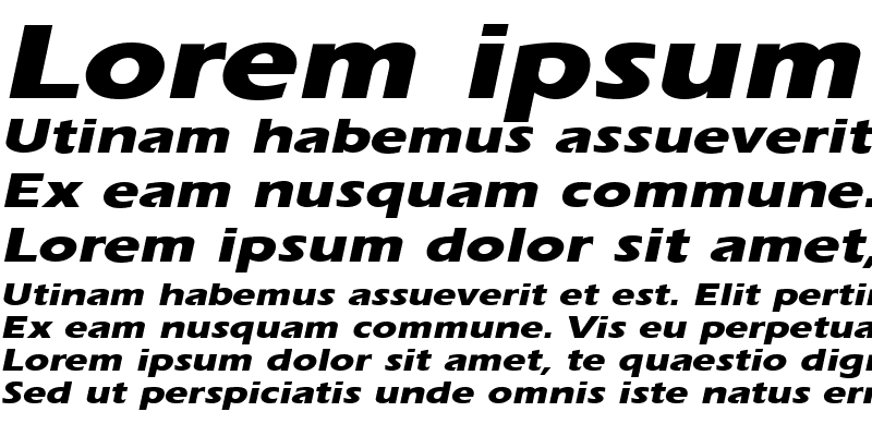 Sample of ErgoeExtraboldExpanded Italic