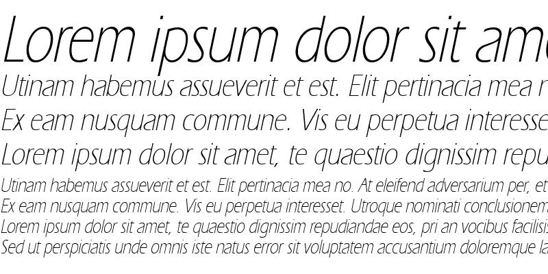 Sample of ErgoeLightCond Italic