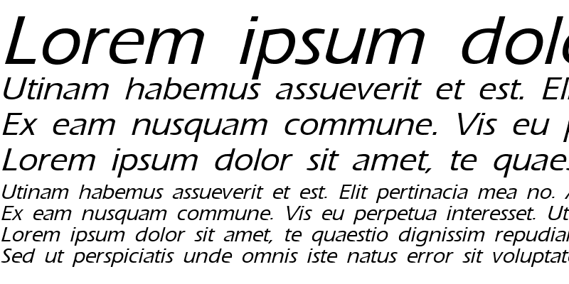 Sample of ErgoeMild Italic