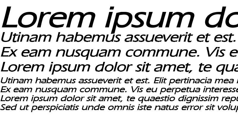 Sample of Eric Wide Bold Italic