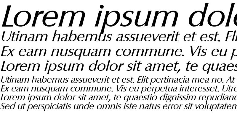 Sample of EricBecker Italic