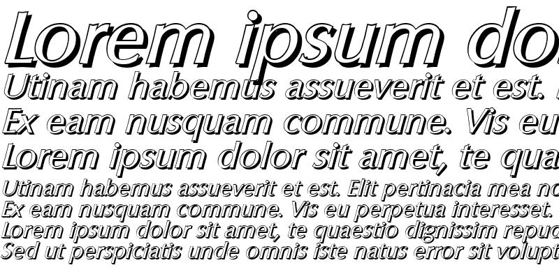 Sample of EricBeckerShadow Italic