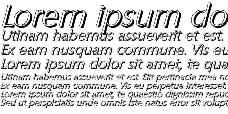 Sample of EricBeckerShadow-Xlight Italic