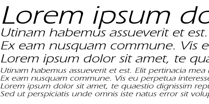 Sample of EricWide Italic