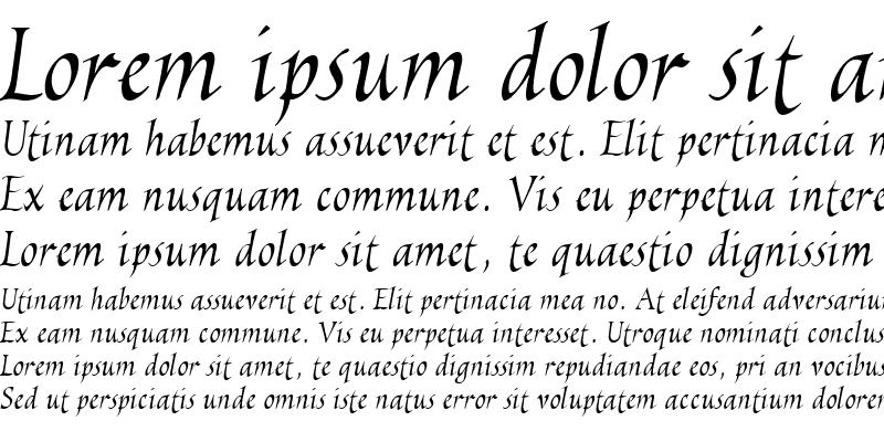 Sample of EscribaUT Italic