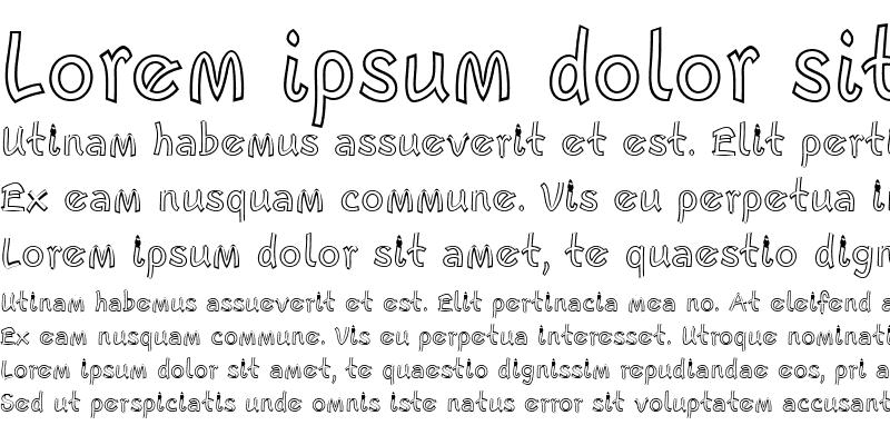 Sample of Escript LT NarrowOutline
