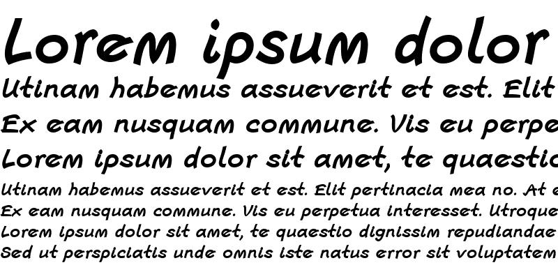 Sample of Escript LT Regular Bold Italic