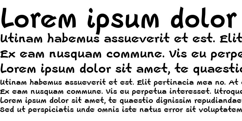 Sample of Escript LT Regular Bold