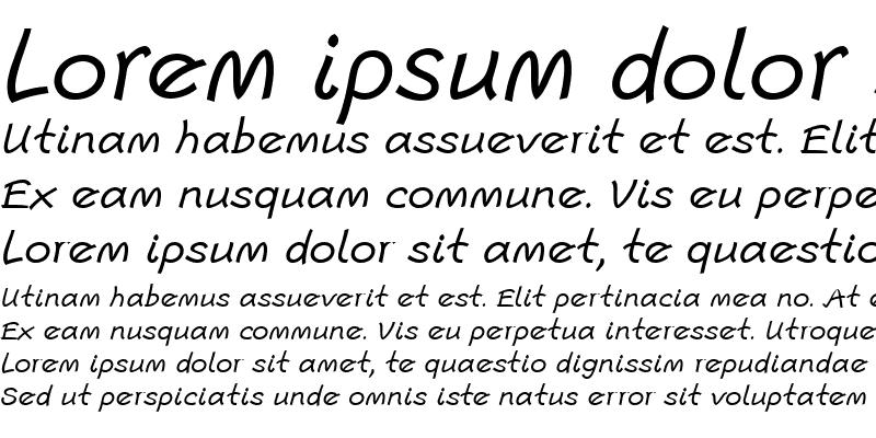 Sample of Escript LT Regular Italic