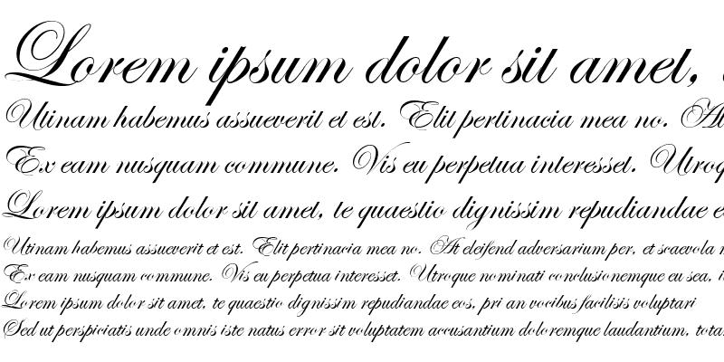 Sample of Esenin script One