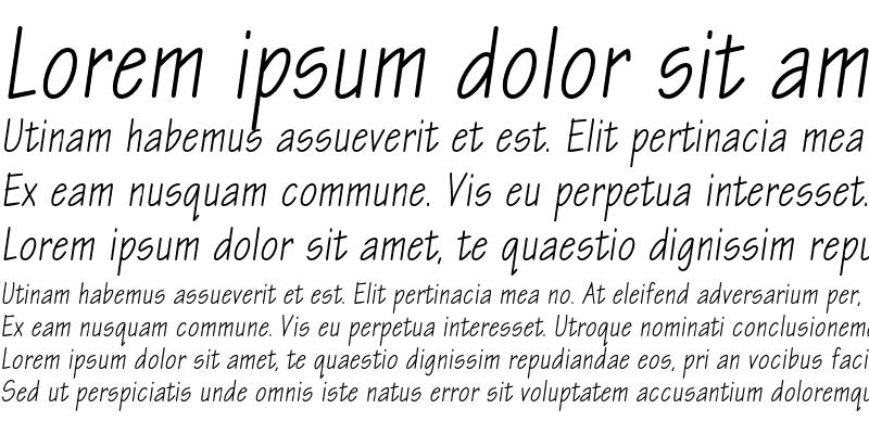 Sample of EskizTwoCondC Italic